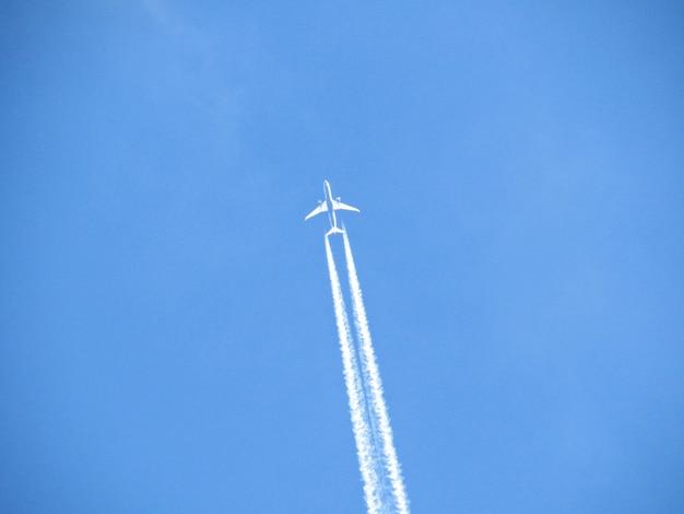 Vol d'avion avec des raies aériennes