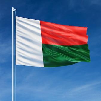 Vol de drapeau de madagascar