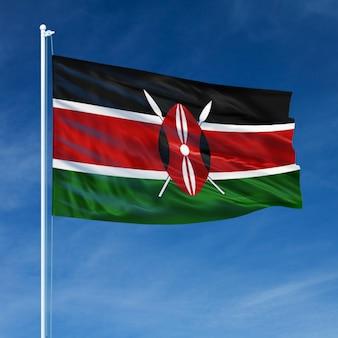 Vol du drapeau du kenya