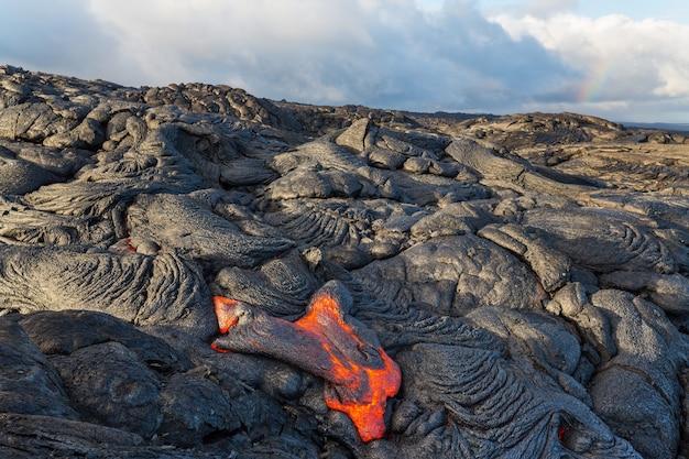 Volcan actif kilauea sur big island, hawaii