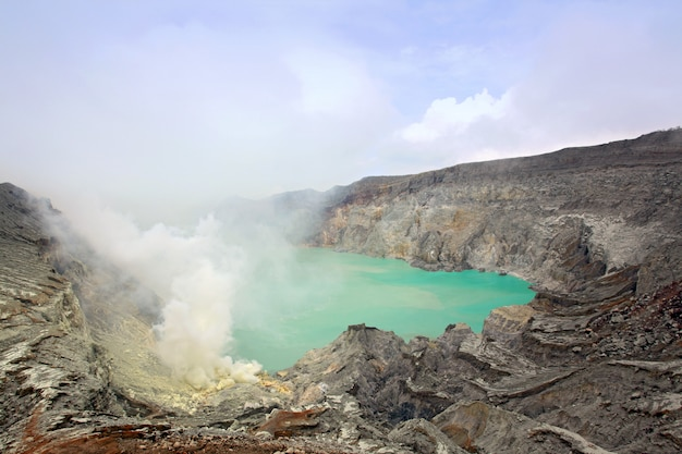 Volcan khava ijen mine de soufre