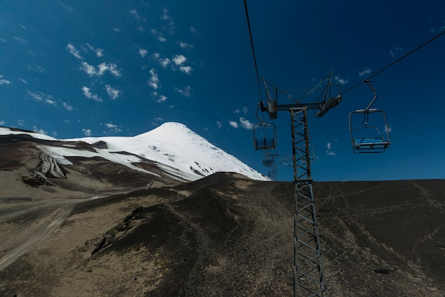 Volcan osorno avec téléphérique vide province de puerto varas llanquihue los lagos chili