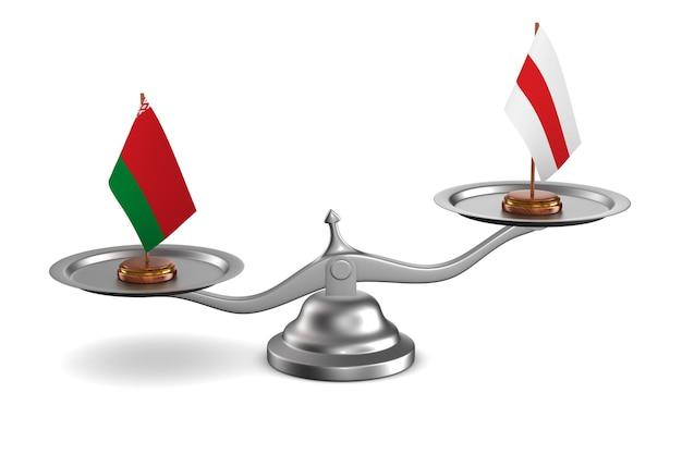 Vote en république biélorusse sur fond blanc. illustration 3d isolée