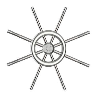 Voûte métallique de rendu 3d isolated on white