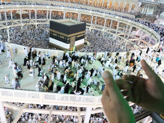 Voyage au hajj à la mecque sainte photo de haute qualité photo de haute qualité