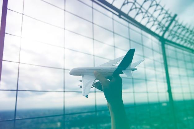 Voyage en avion transport aérien