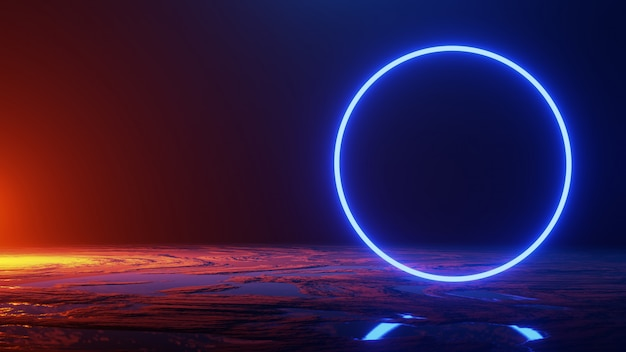 Voyage dans l'espace, concept de l'univers, rendu 3d