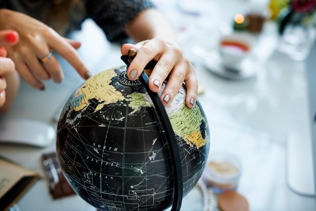 Voyageur de globe du monde