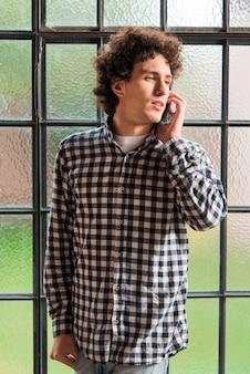 Voyante, coup, conversation, téléphone