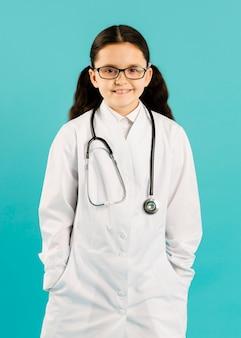 Voyante, coup, jeune, docteur