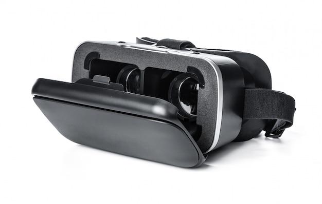 Vr, lunettes de réalité virtuelle sur blanc