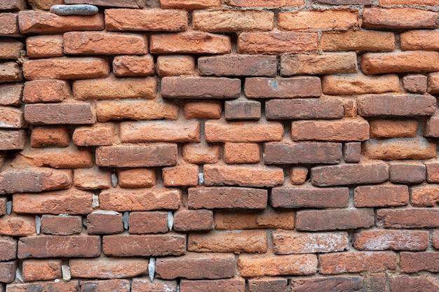 Vraie brique ancienne rouge du bâtiment du patrimoine