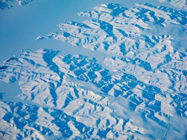 Vue abstraite du paysage d'hiver