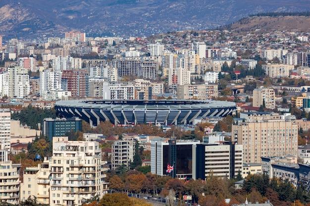 Vue aérienne de l'arène boris paichadze dinamo. sport