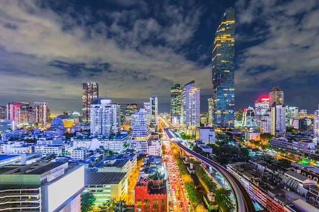 Vue aérienne, de, bangkok, ville, moderne, bureaux, condominium, hôtel, bangkok