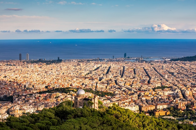Vue aérienne de barcelone