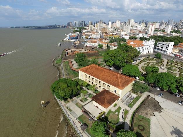 Vue aérienne de belem do para au brésil