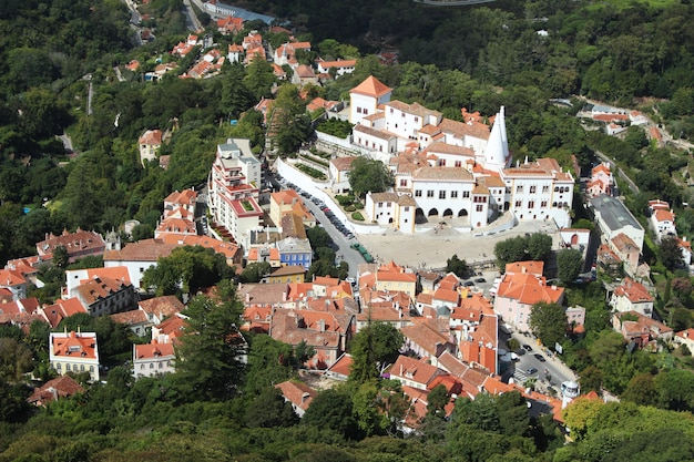 Vue aérienne de la belle architecture à lisbonne, portugal