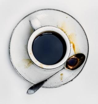 Vue aérienne de café chaud
