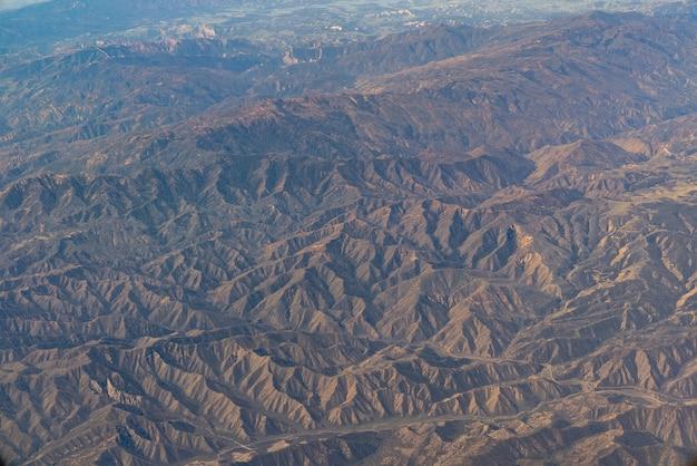 Vue aérienne de la californie san andreas