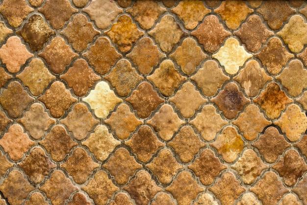 Vue aérienne de la chaussée en pierre vintage à l'extérieur
