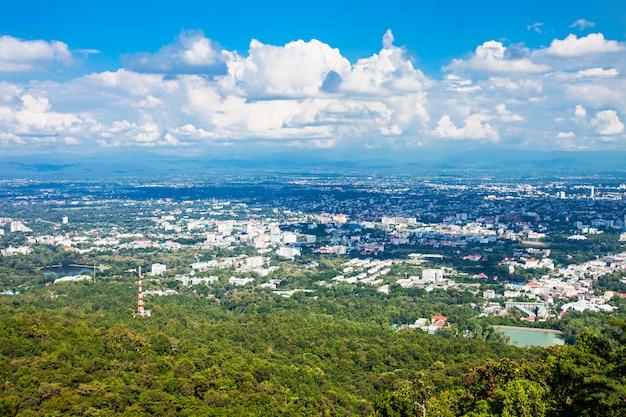 Vue aérienne de chiang mai