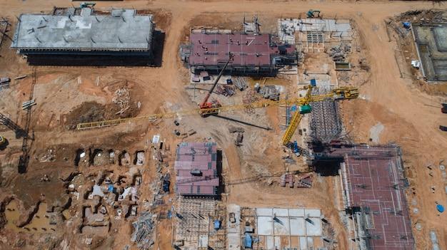 Vue aérienne construction