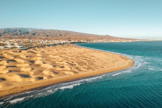 Vue aérienne de la côte des îles canaries, espagne