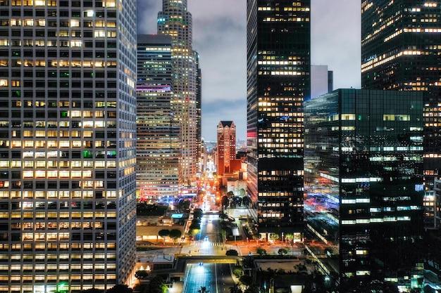 Vue aérienne créative du paysage urbain