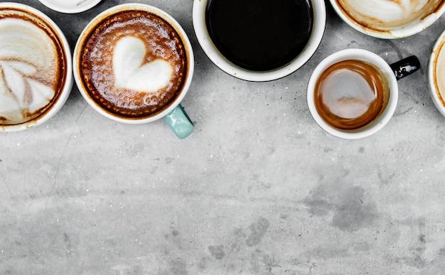 Vue aérienne de divers cafés