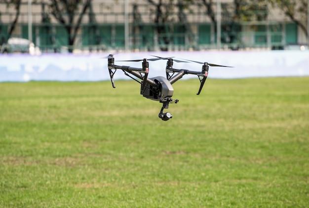 Vue aérienne avec des drones