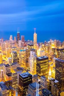 Vue aérienne du centre-ville de chicago