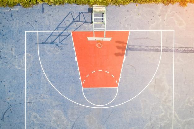 Vue aérienne du collège de l'école