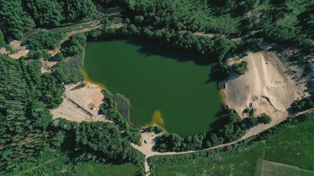 Vue aérienne du lac