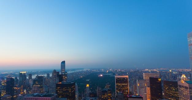 Vue aérienne du parc central à new york