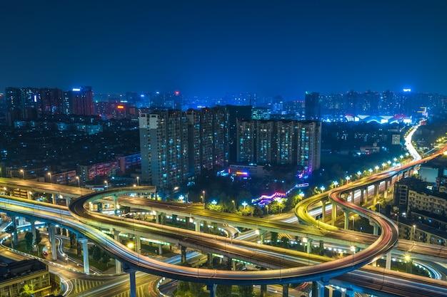 Vue aérienne du passage supérieur de chengdu