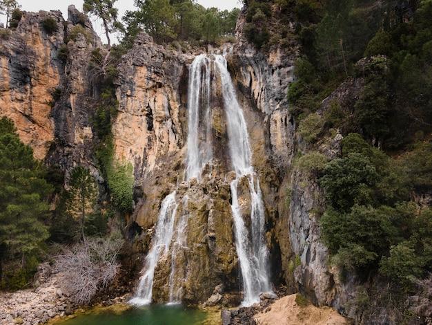 Vue aérienne du paysage de la cascade