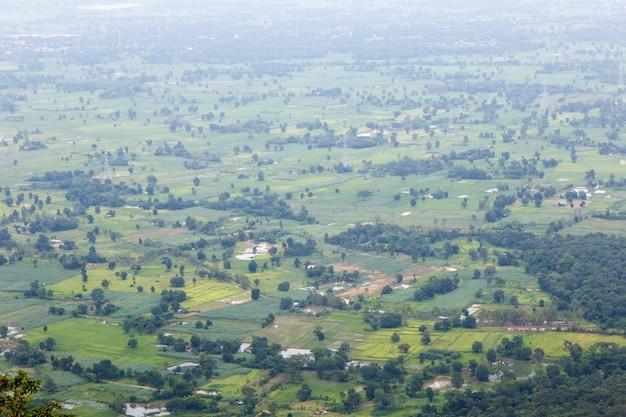 Vue aérienne du paysage monument public