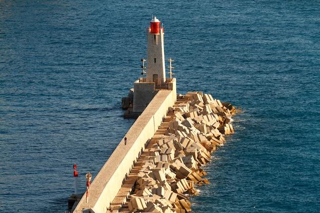 Vue aérienne du phare.