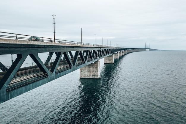 Vue aérienne du pont entre le danemark et la suède