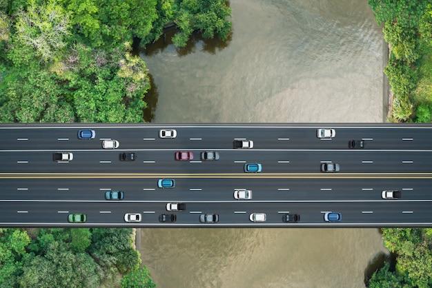 Vue aérienne du pont