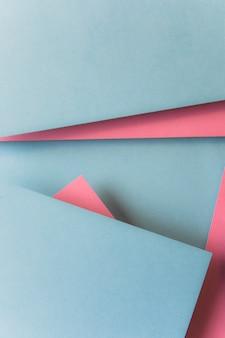 Vue aérienne du schéma de configuration en papier