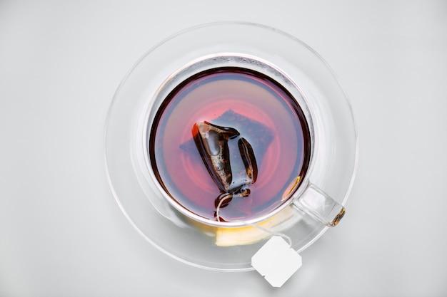 Vue aérienne du thé chaud