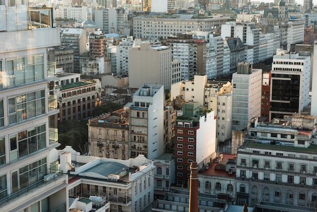 Vue aérienne de l'espace urbain