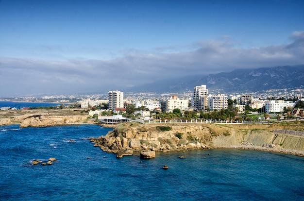 Vue aérienne de kyrenia à chypre