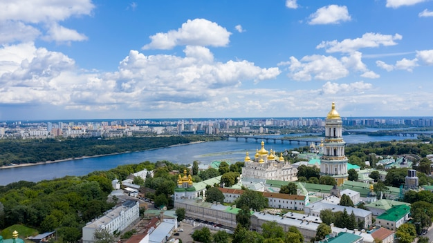 Vue aérienne de la laure de petchersk à kiev.