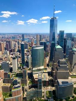 Vue aérienne de manhattan à new york