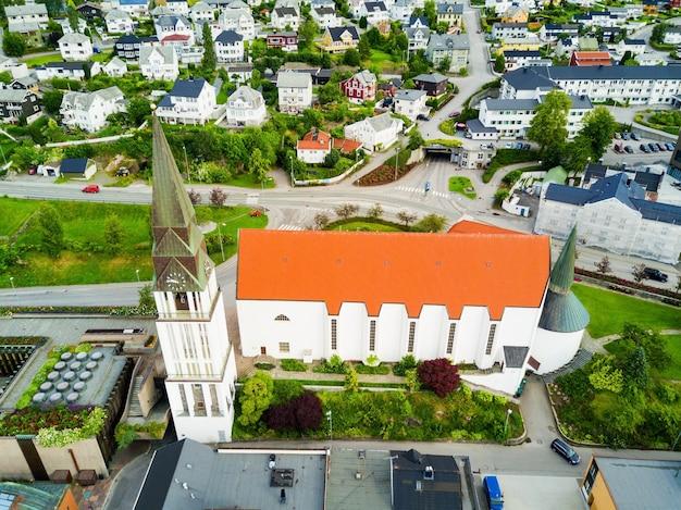 Vue aérienne de molde, norvège