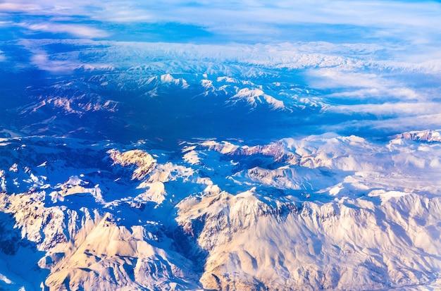 Vue aérienne des montagnes du nord de l'anatolie, turquie
