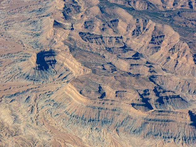 Vue aérienne des montagnes mexicaines d'en haut